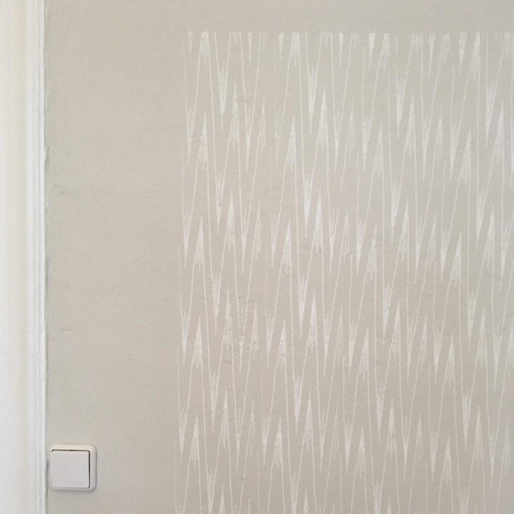 Wandgestaltung mit Musterwalze