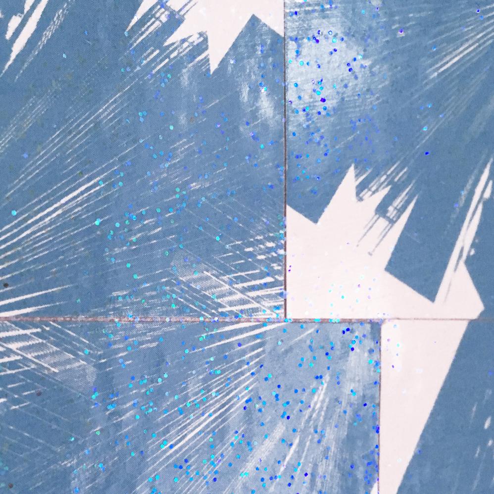 Kartenmosaik mit Glitter